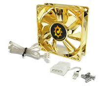 Bild Silent Anodized LED Fan 80mm Gold